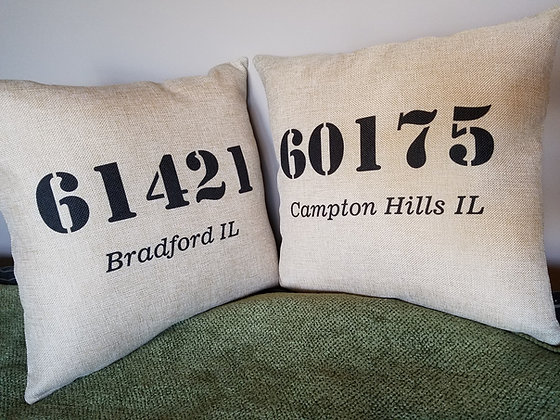 Pillows - Zip Codes