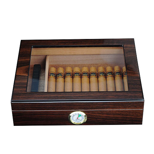 Luxury Cigar Humidor - Spanish Cedar Wood