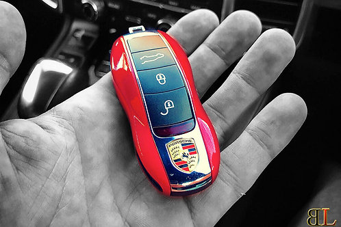 Coloured Porsche Key Cover Housing