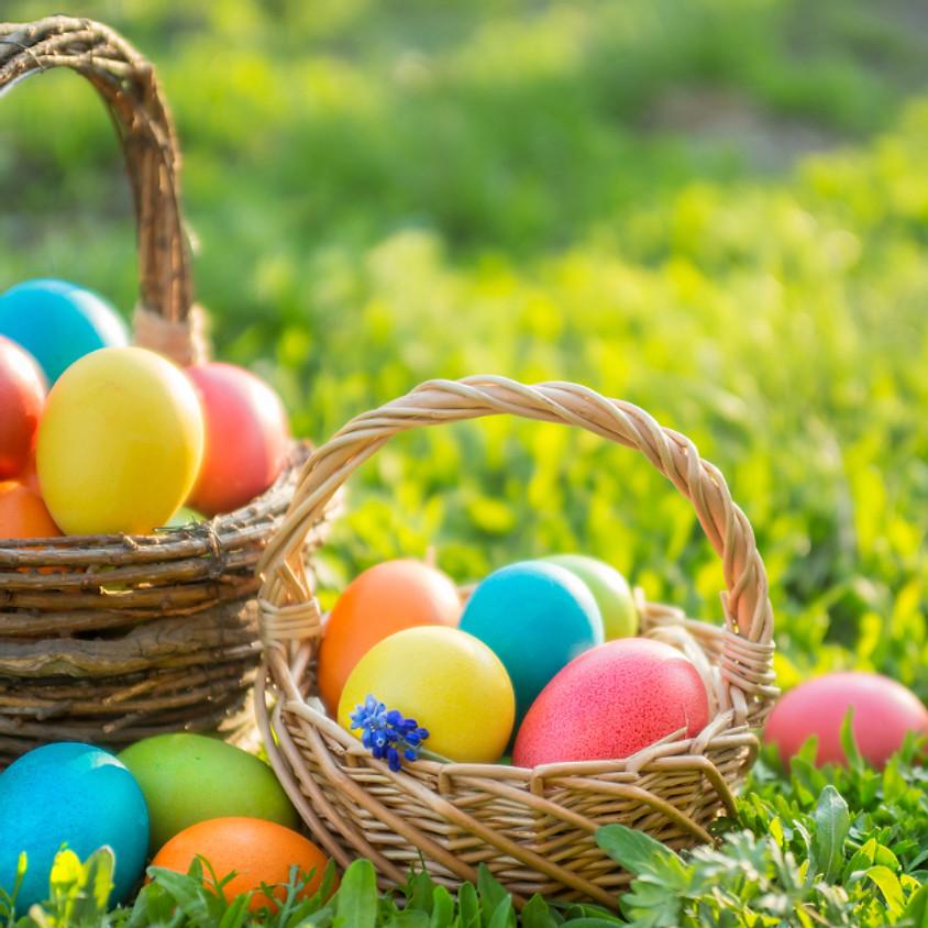 Easter Egg Hunt & Egg Coloring