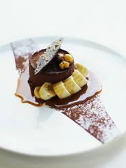 Dessert van de chocolade