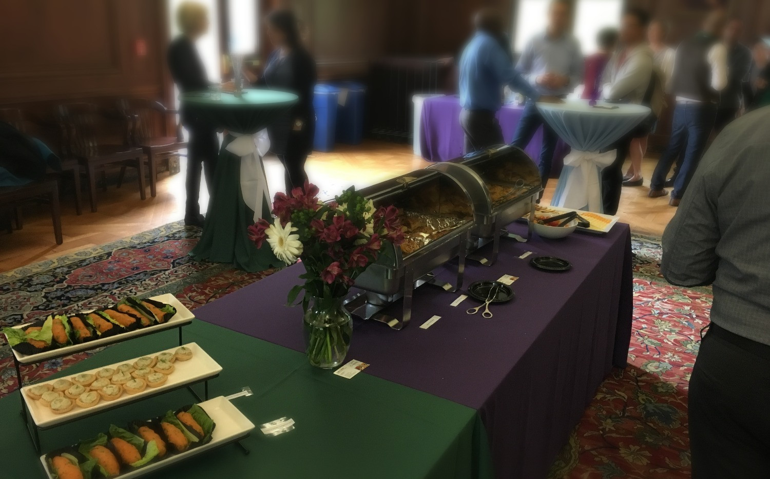 Buffet style catering at Northwestern University