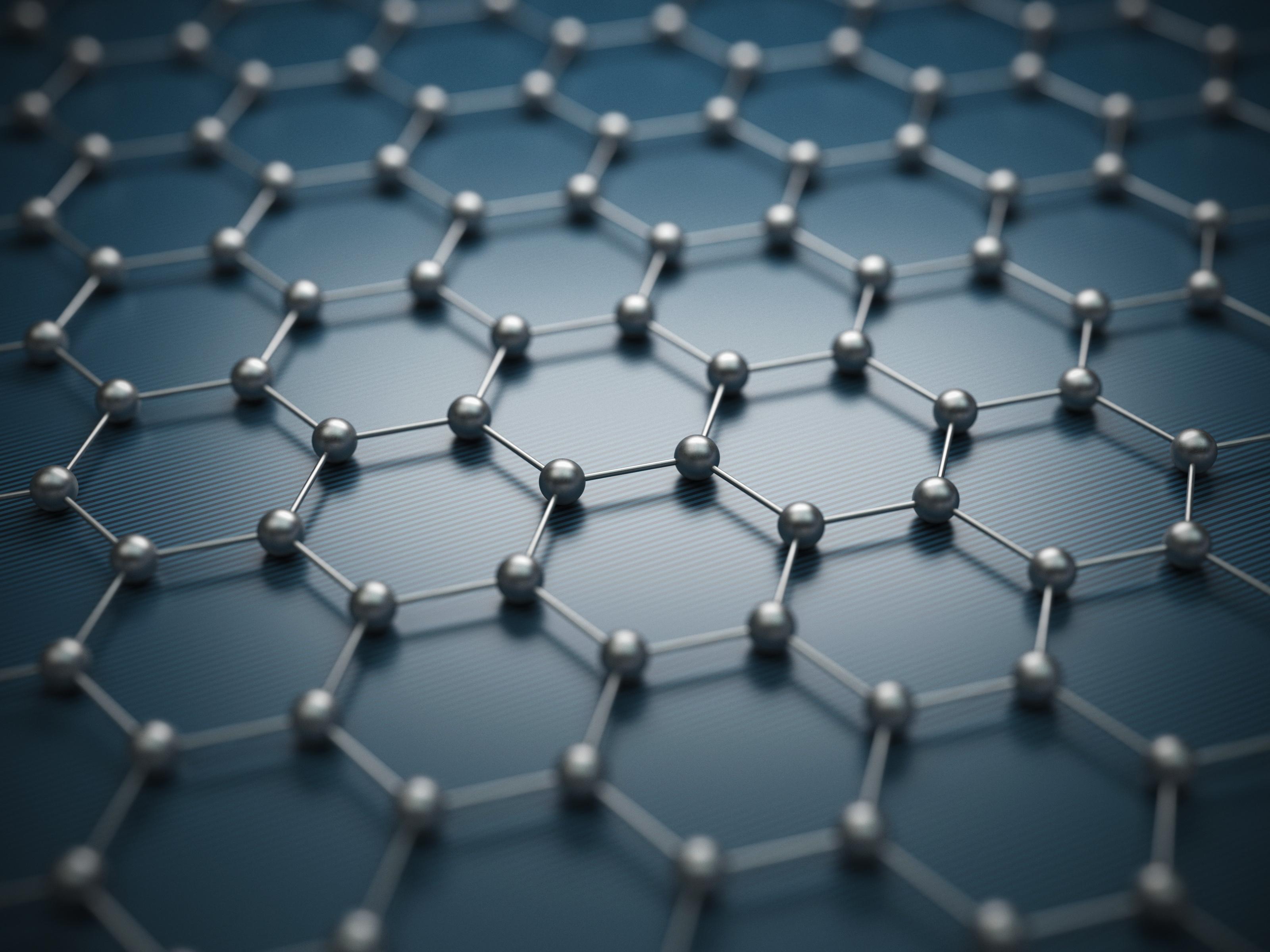 Graphene molecular grid, graphene atomic