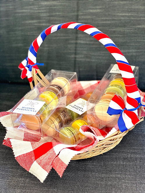 French Macaron Basket