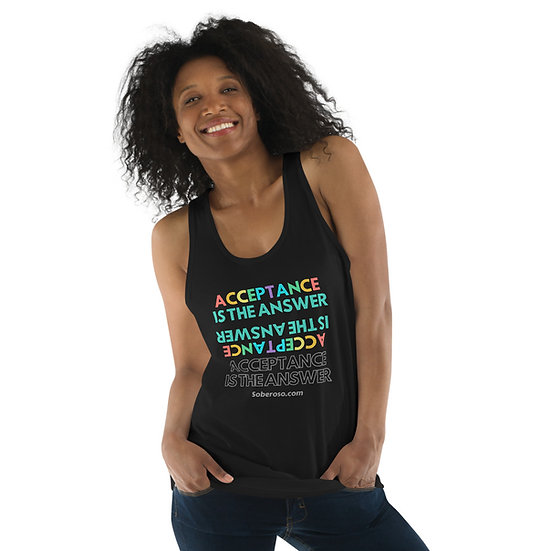 Acceptance Is The Answer - Soberoso Classic tank top (unisex)