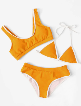 Dani Orange 3Piece BK Set