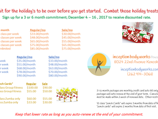 Holiday Fitness Sale