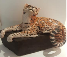 Escultura Jaguatirica (Marília Klein)
