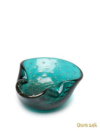 Bowl 2 Tela Verde c/ Ouro (Cristais Cá D'óro)