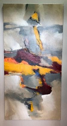 Abstrato vermelho e amarelo (Marilene Zanchet)