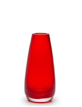 Vaso 408 Vermelho Transparente (Cristais Cá D'óro)