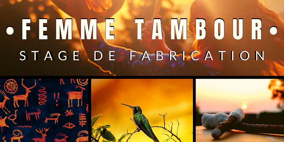 Femme Tambour - stage de fabrication tambour