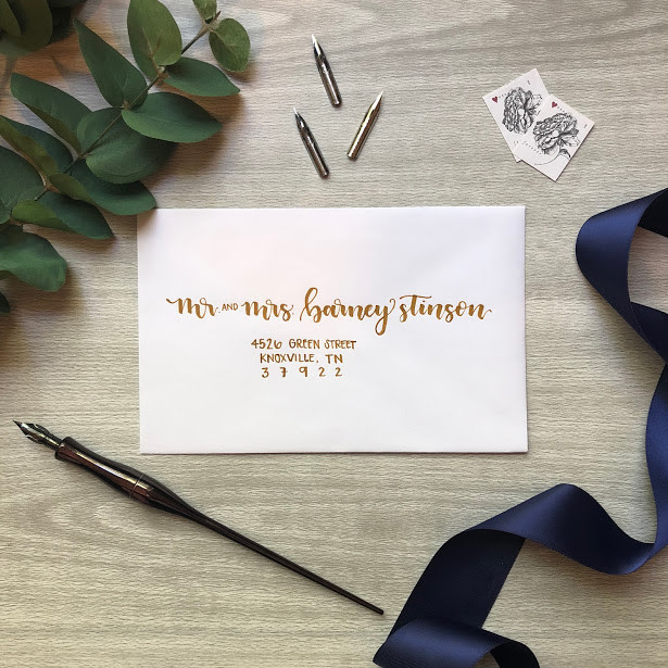wedding stationery calligraphy envelope