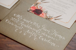 Gold Envelope Calligraphy