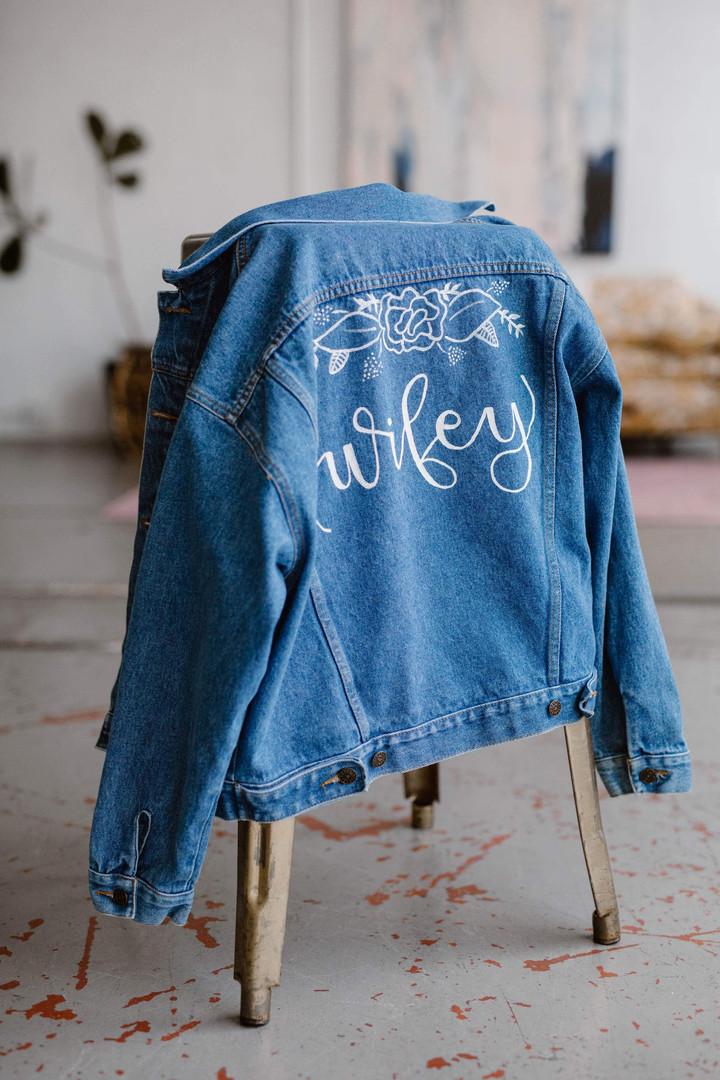 Custom Wifey Denim Jacket