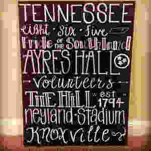 lettering tennessee spirit canvas