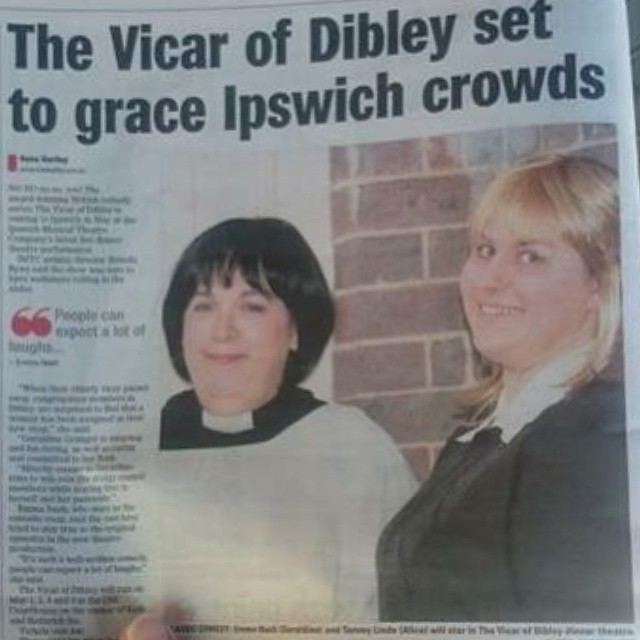#IMTCDibley Look who made the paper!! Only a few weeks left to get tickets