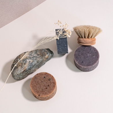 Spa day with Soap, rock, flower
