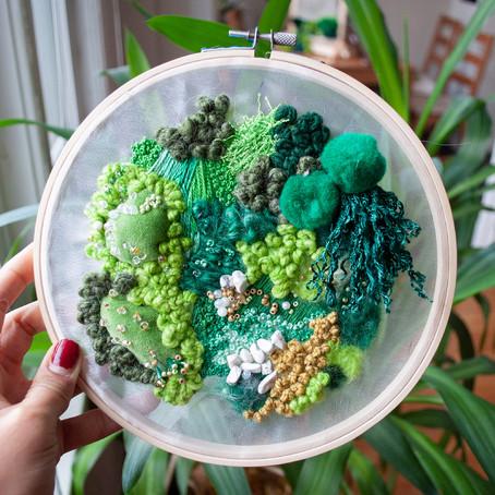 Textile Art - The Woodland Series