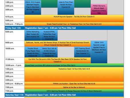PowerClean 2021 Schedule