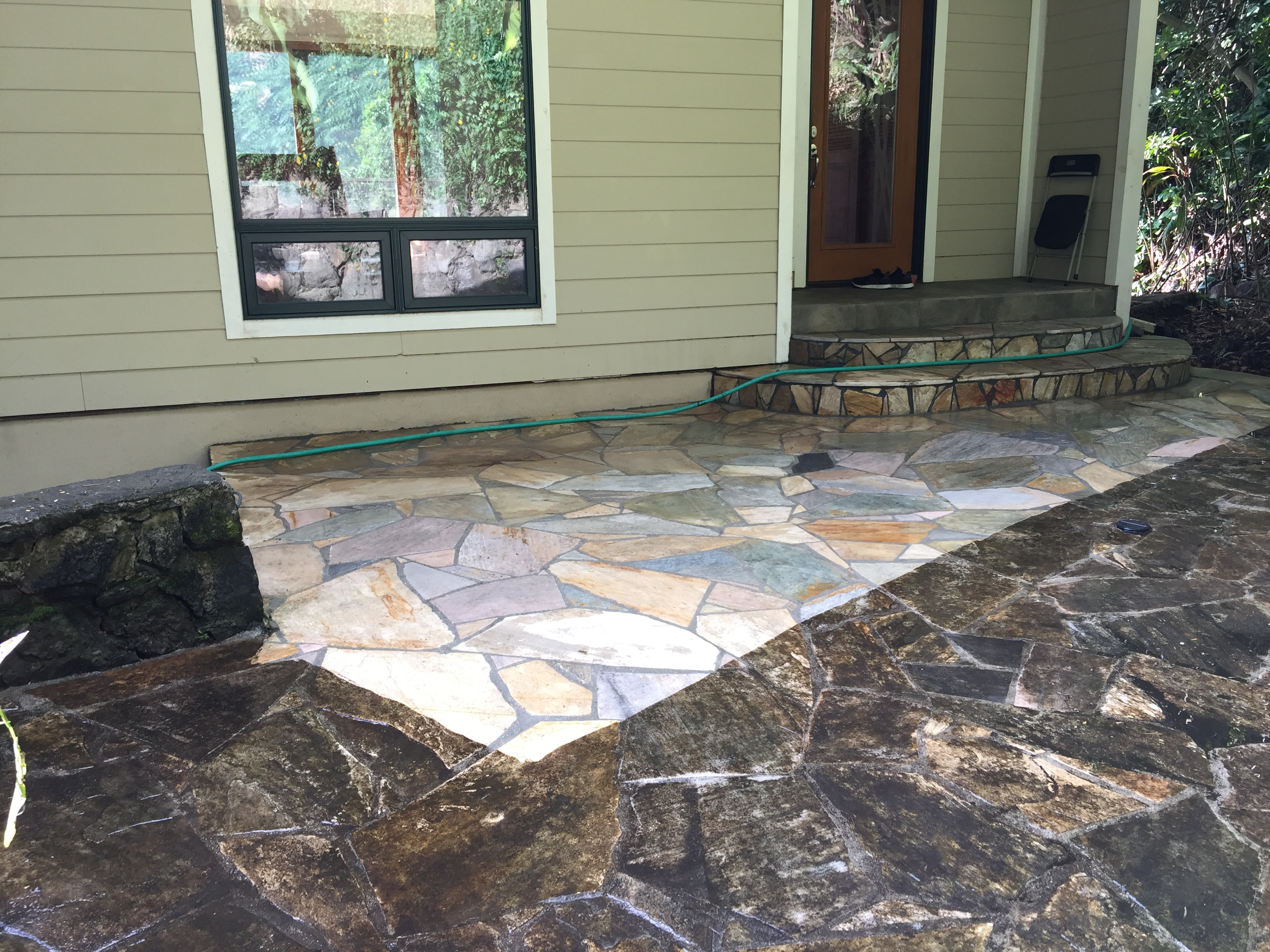 Pressure Washing Flagstone