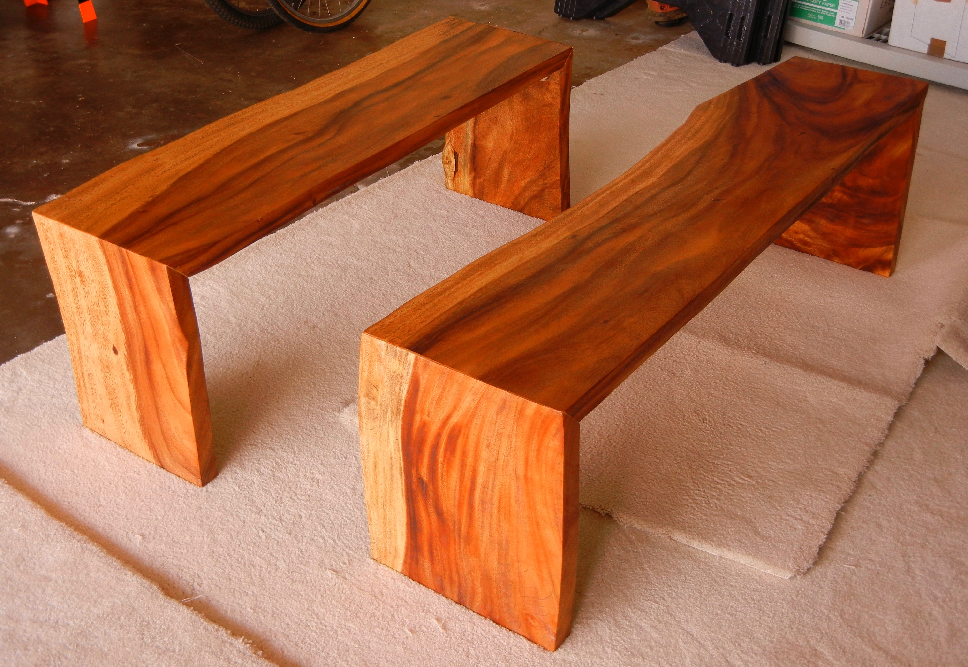 Custom Monkeypod Benches