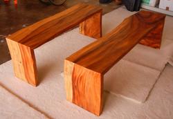 Custom Monkeypod Benches