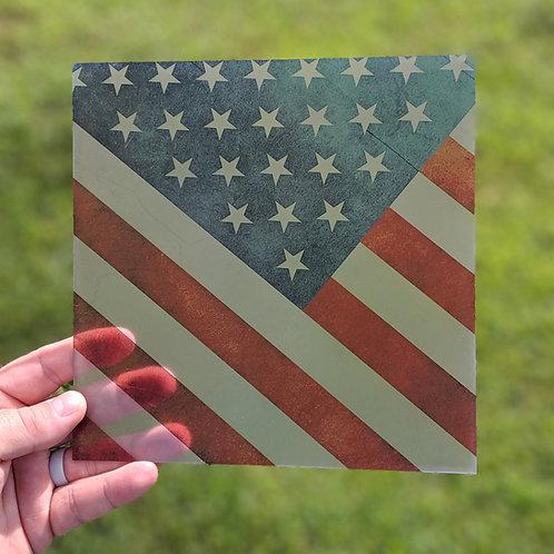 Clear American Flag