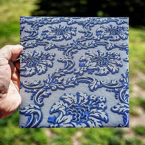 3D Blue Paisley