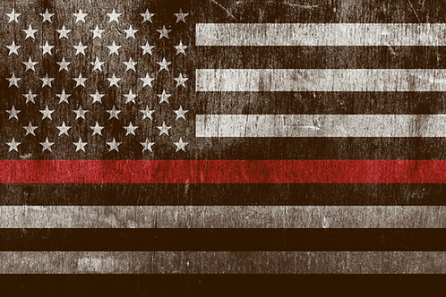 Thin Blue/Red Line Flag