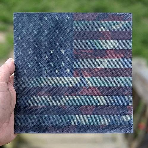 Woodland Camo US Flag