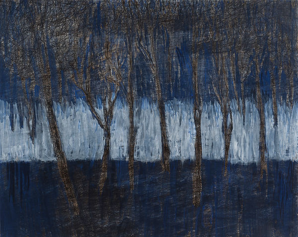 Landscape_-_Winter_lyijykynä_ja_akryyli_