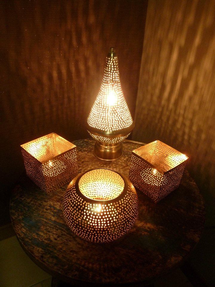Theelichtjes en staand lampje