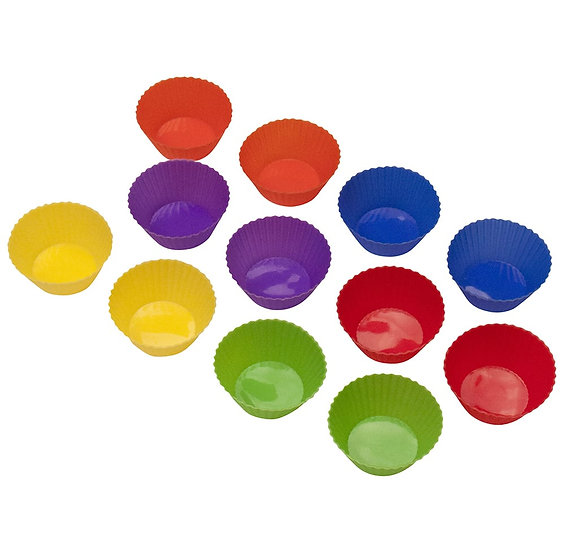 Curious Chef 12-Piece Silicone Cupcake Liner Set
