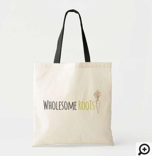 Wholesome Roots Cooking Custom Tote Bag