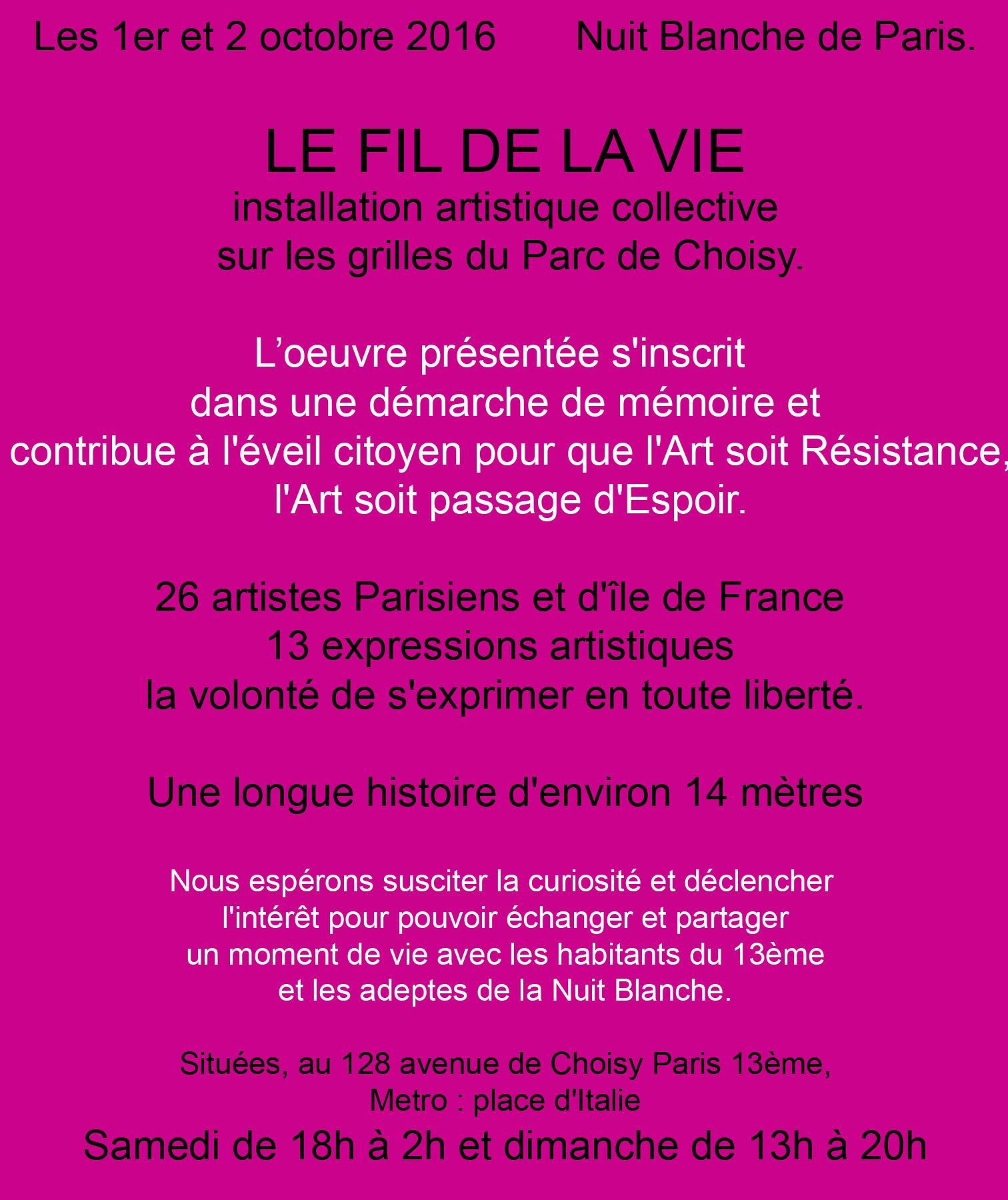 Le Collectif Le fil de la Vie // I
