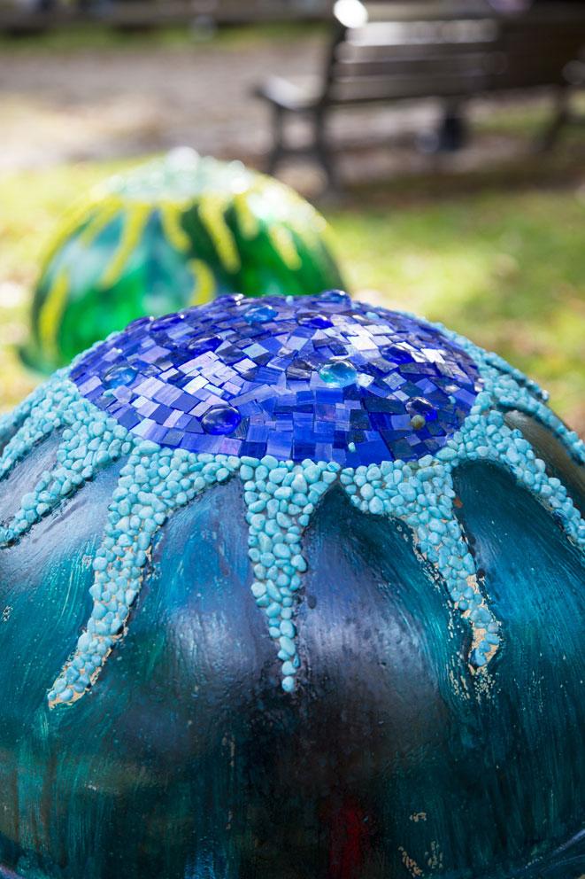 meduse bleue detail