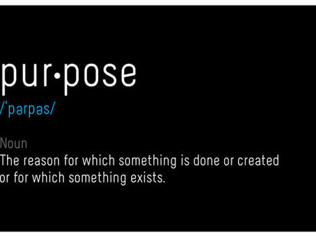 Without purpose, there is no mission.