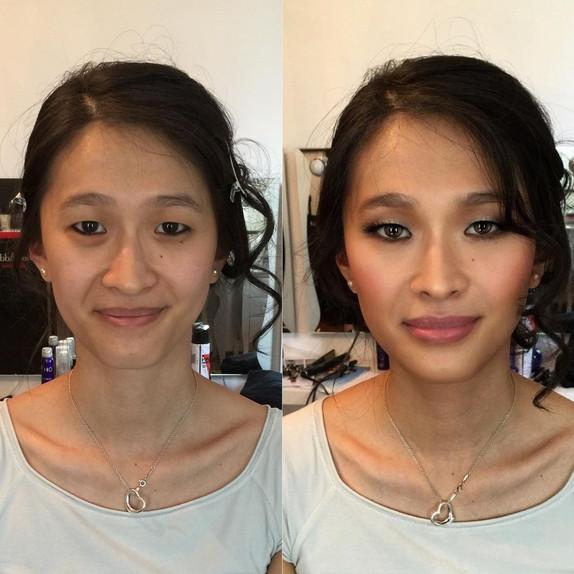 Before_after_bridal_makeup_Lake_como