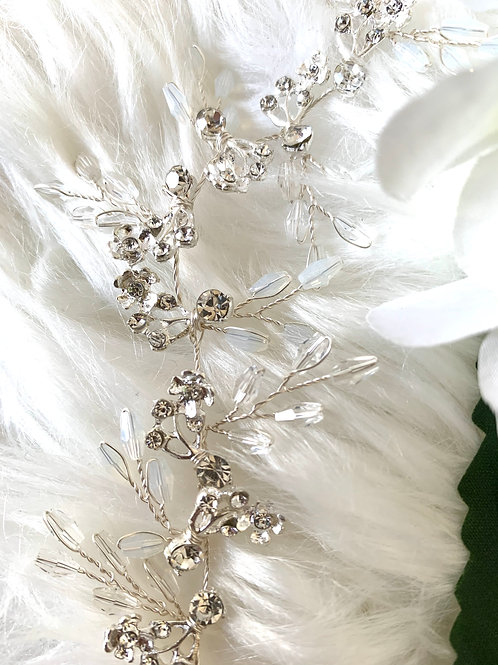 SILVER and WHITE Bridal Hair Accessories