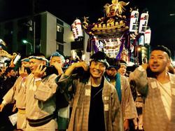 地元秋祭りにて、坂上睦会