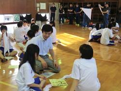 都立日野高校にて、宿泊訓練 へ参加