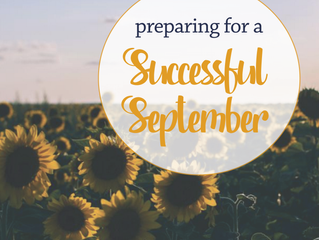 Preparing for a Successful September
