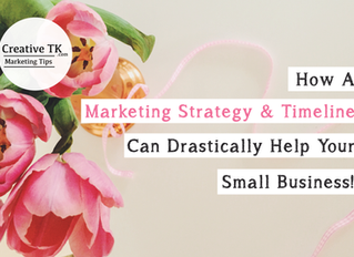 How a marketing strategy & timeline can help your small business!