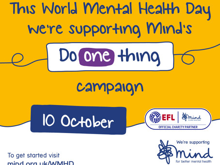 DO ONE THING' THIS WORLD MENTAL HEALTH DAY