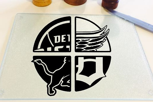 Detroit sports teams cutting board, trivet or c