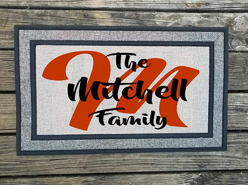 Personalized Family Name Door Mat Welcome Mat