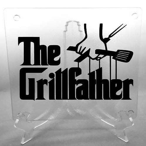 The Grillfather cutting board, trivet or coaster