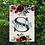 Thumbnail: Personalized Yard Flag Monogram Boho Flowers Garden Flag