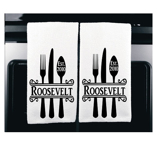 Microfiber kitchen towels, absorbent towels, customized towel, personalized towel